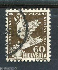 SUISSE, 1932, timbre 258, OISEAUX, COLOMBE, oblitéré, BIRD DOVE