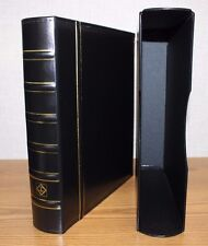 LIGHTHOUSE Coin Currency Stamp Album GRANDE Classic Leather 3 Ring Binder BLACK