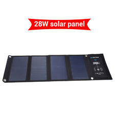 28W 5V Solar Charger Fast Charge 3 USB Port for Mobile Phone HTC Waterproof