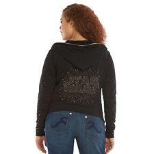 NEW Rock & Republic STAR WARS Women's Embellished Terry Sweatshirt Hoodie Large