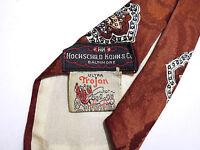 CULT VINTAGE '40 WWII Cravatta Art Deco Seta Gabardine Swing Silk Tie