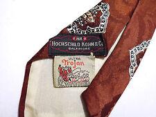 CULT VINTAGE '40 SEGUNDA GUERRA MUNDIAL Corbata Art Deco Seda Gabardina Swing