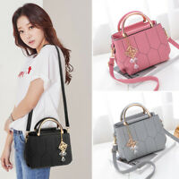 Women's PU Leather Handbag Satchel Crossbody Tote Shoulder Messenger Bags Purse