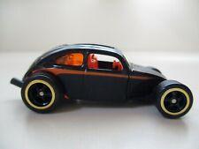 HOT WHEELS - LARRY'S GARAGE CHASE CUSTOM VOLKSWAGEN BEETLE  VW BUG (REAL RIDERS)