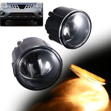 1Pair Driving Fog Lights Lamps For Nissan Cube Juke Murano Rogue 261508993 Black