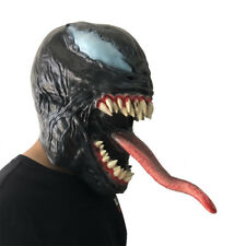 Cosplay Venom Mask Melting Face Latex Costume Halloween Prop Scary Mask Toy Gift