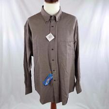 $88 PENDLETON Canterbury Cloth Wool Blend Button Down Shirt Mens XXL Houndstooth