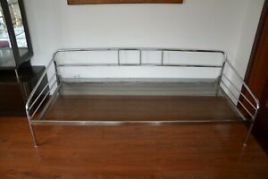 Original Chrom Stahlrohr Daybed Sofa Liege Bauhaus Art Deco 1930 Couch