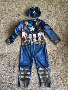 Marvel Avengers Captain America Costume Fancy Dress Up Age 4-5 Years