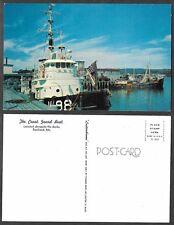 Old Maine Postcard - Rockland - Coast Guard Boat