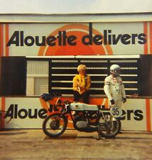 New listing Vtg 1970 Race Track PHOTO Unknown Rider YAMAHA TD2 Road Racing Motorcycle CANADA