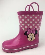 Disney Toddler Girls Minnie Mouse Rain Boots Size 11/12, Pink 931