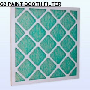 PAINT SHOP CAR SPRAY BOOTH AIR FILTER MATERIAL EXTRACTION PANEL  x 2