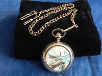 MOSQUITO CHROME POCKET WATCH WITH CHAIN (NEW)