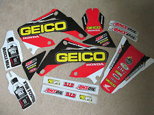 TEAM  GEICO graphics Honda CR125 CR125R  CR250 CR250R 2002-2007