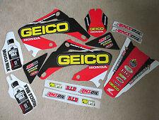 TEAM  GEICO graphics Honda CR125 CR125R  CR250 CR250R 2002-2007