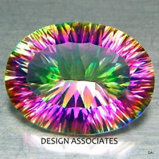 RAINBOW QUARTZ  CONCAVE OVAL CUT 14 X 10 MM