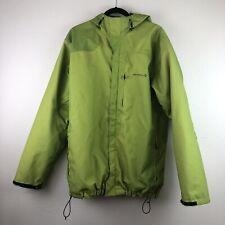 Merrell Men's L Lime Green Opti Shell Winter Snow Parka Full Zip Hooded Jacket
