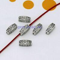 50Pcs Tibetan Silver Loose Metal Beads Craft Spacer Beads Jewelry Making 5*12mm