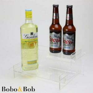 Bar Bottle Tiered Display Stand - 295mm Wide - Wine - Spirits - Beer - 5 Colours