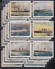 WILLS, FAMOUS BRITISH LINERS, A SERIES OF 30 LARGE CARDS ISSUED IN 1934.