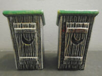 """VINTAGE OUT HOUSE SALT AND PEPPER SHAKERS SET 3 7/8"""""""