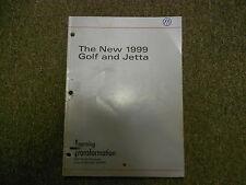1999 VW GOLF JETTA Self Study Program Shop Manual OEM FACTORY BOOK 99