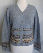 Banana Republic Cardigan Sweater M Gray Knit Lambswool Wool Button Up