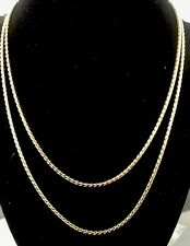Gold Necklace 17� 14K Ip Yellow