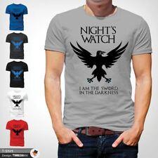 Night's Watch Game Of Thrones T-Shirt Jon John Snow Sword in the darkness Gray