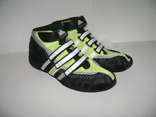 Mens Adidas Ape 779001 Black White Gray Neon Wrestling Shoes Boots Sz 12