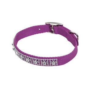 "Coastal Pet Orchid Nylon Jewel Rhinestone Diamond Collar 3/8"" By 8"" - 12"" Purple"