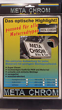 MetaChrom Schwarz 180x200 mm Motorrad Kennzeichenhalter Nummernschildhalter