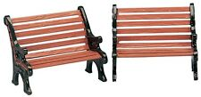LEMAX CHRISTMAS VILLAGE HOUSE ACCESSORIES - SET OF (2) PARK BENCH #34895