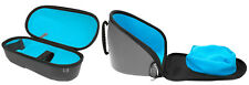 Exalt Le Carbon Paintball V3 Goggle and Tank Case Charcoal Cyan Microfiber