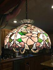 Meyda Botanical Stained Glass Chandelier Bronze 5 light Tiffany