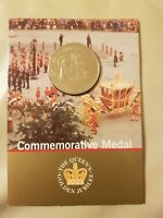 Sealed Royal Mint Commemorative Medal 2002 The Queens Golden Jubilee