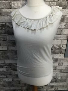Ladies Beige Size L Sleeveless Top