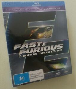FAST & FURIOUS 1 2 3 4 5 6 7 COLLECTION blu-ray set NEW vin diesel REGION B cars