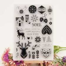 Chirstmas NOEL Transparent Silicone Clear Rubber Stamp Diary Scrapbooking DIY