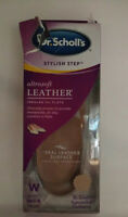 Dr. Scholl's Stylish Step UltraSoft Leather Insoles, Womens 6-10, Torn Packaging