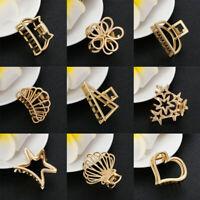 Fashion Girls Hair Claw Clip Geometric Hairpin Crab Hollow Hair Clips For Women