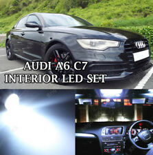 AUDI A6 C7 2012+ ERROR FREE WHITE INTERIOR COMPLETE LED BULBS UPGRADE LIGHT SET