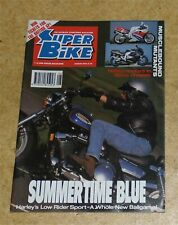 Super Bike Motorcycle Magazine 100cc in 750c Chassis Harley Davidson Aug 92 SB1