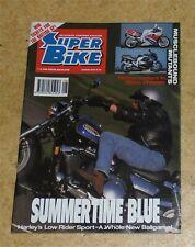 Super Bike Motorcycle Magazine 100cc in 750c Chassis Harley Davidson Aug 92 SB1