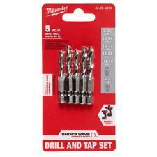 Milwaukee SHOCKWAVE SAE Steel Drill Tap Set (5-Piece) 48-89-4874