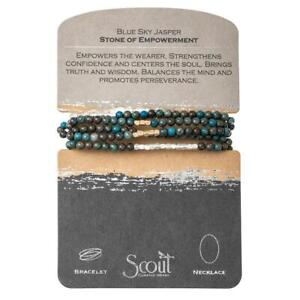 Scout BLUE SKY JASPER Stone of Empowerment BRACELET or NECKLACE beads Jewelry