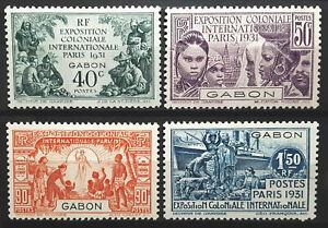 sGabon Stamp 1931 Colonial Exposition Issue Scott # 120-123 MINT OG H