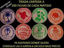 Set 4 PARTIDO POLITICO PUERTO RICO ELECCIONES 2008 Wooden Nickel 1/200