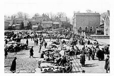 pt3188 - Otley , Cattle Market , Yorkshire in 1884 - photo 6x4